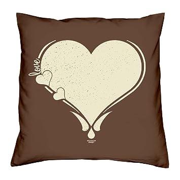 Love Herz Kissen Inkl Fullung 40x40 Geschenk Fur Verliebte