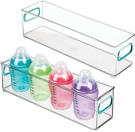 Windeln gro/ße Sortierbox mit praktischen Griffen mDesign 2er-Set Kinderzimmer Organizer Stofftiere /& Co BPA-freier Kunststoffbeh/älter f/ür Spielzeug hellblau