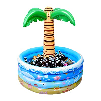 Toyvian 37 Inch Inflatable Palm Tree Cooler, Summer Swimming Party Decoration, Floating Pool Cooler for Beach Theme & Hawaiian Party: Garden & Outdoor