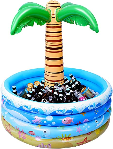 ** INFLATABLE  PALM TREE 86CM BEACH SEASIDE PARTY FANCY DRESS PROP NEW