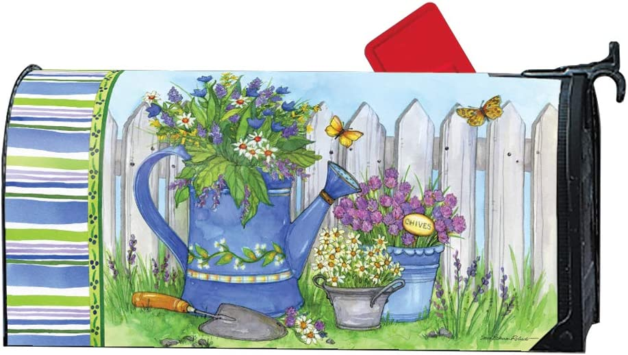 MailWraps Studio M Painted Watering Can Decorative