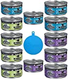 RedBarn Naturals Grain Free Canned Cat Food Pate in 3 Flavors – Tuna, Lamb, and Turkey - 12 Cans Total, 5.5 Ounces Each - Plus 1 Pet Buddies Silicone Cat/Dog Cover - 13 Items Total