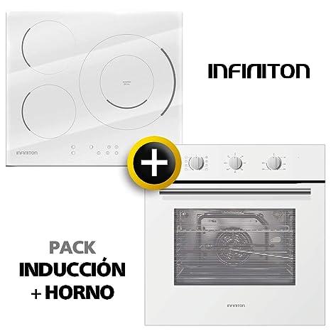 Pack Horno + INDUCCION INFINITON Blanca (Placa Encimera mas Horno ...