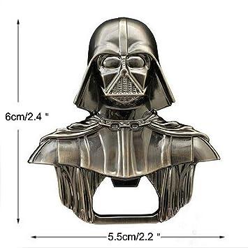 Abrebotellas Star Wars de Bayram - Llavero Abrebotellas de Darth Vader de Star Wars - Abridor Metálico de Vino y Cerveza con Chapa - el Regalo de ...