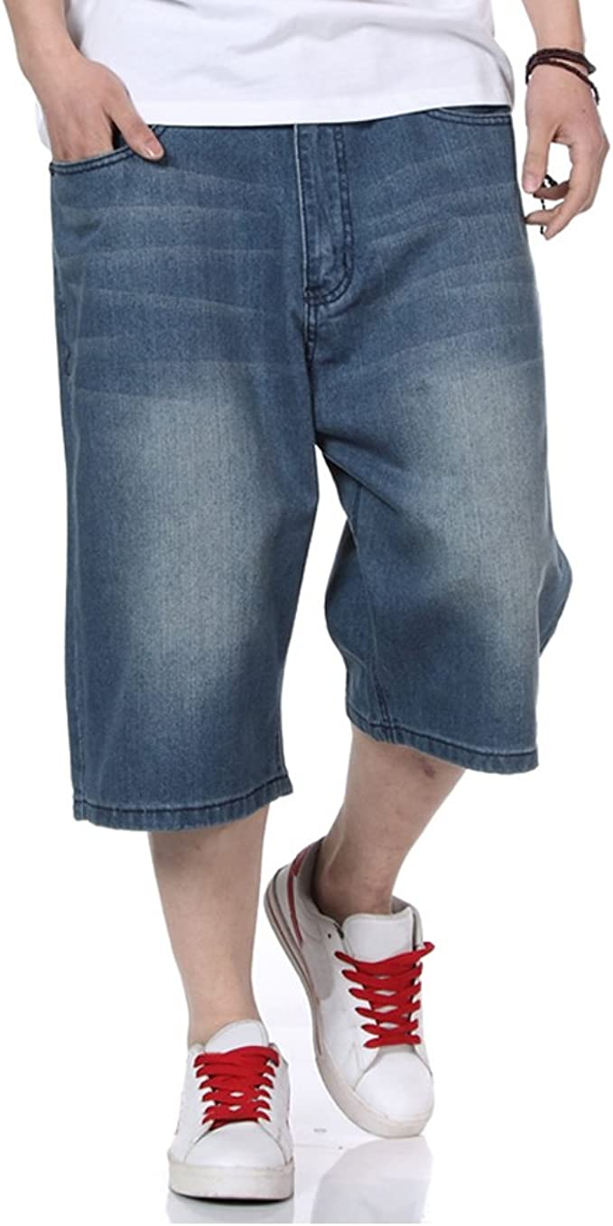 Mens Jean Shorts Relaxed Fit Denim Short Jeans Classic Plain Casual Plus  Size 30W-46W (36) at Amazon Men's Clothing store
