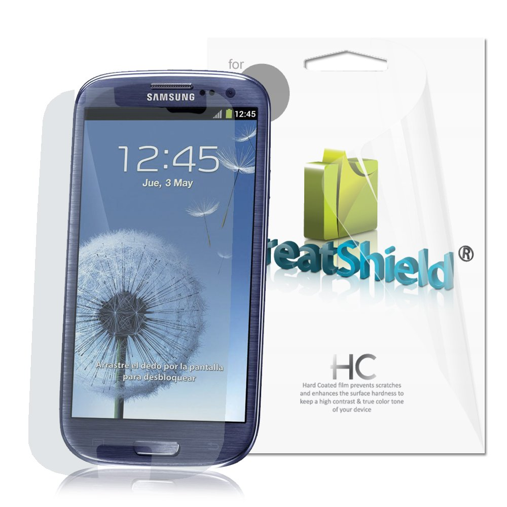 Lcd screen protector guard for samsung galaxy s3 i9300 galaxy s iii - Greatshield Ultra Smooth Clear Screen Protector Film For Samsung Galaxy S3 S Iii I9300 3 Pack Amazon Ca Cell Phones Accessories