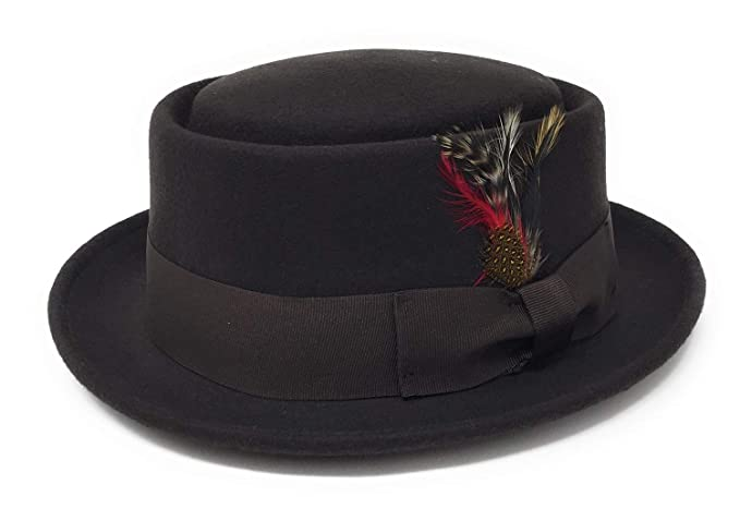 Pork Pie Hat with Removable Feather. Navy c9f028de3080