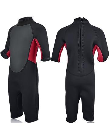 2731f0543d Realon Kids Wetsuit Shorty Full 3mm Premium Neoprene Lycra Swimsuit Toddler  Baby Children and Girls Boys