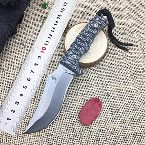1 piece New Outdoor Fixed Blade KnifeFull Tang 7Cr17Mov EDC Hunting Straight Knives Tools Tactical Survival KnifeCustom Jungle Knives