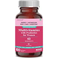 Carbamide Forte Multivitamins for Women with 43 Ingredients like Probiotics and Minerals Supplement - 60 Veg Tablets