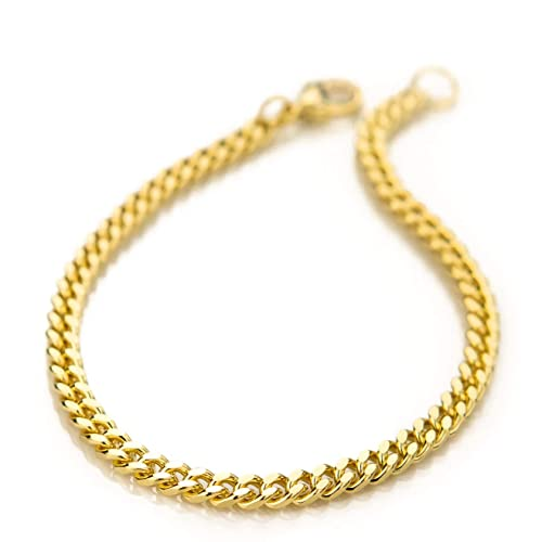 e3a9f7892be72 Amazon.com: My Ritzy Gold Cuban Link Chain Bracelet for Men and ...