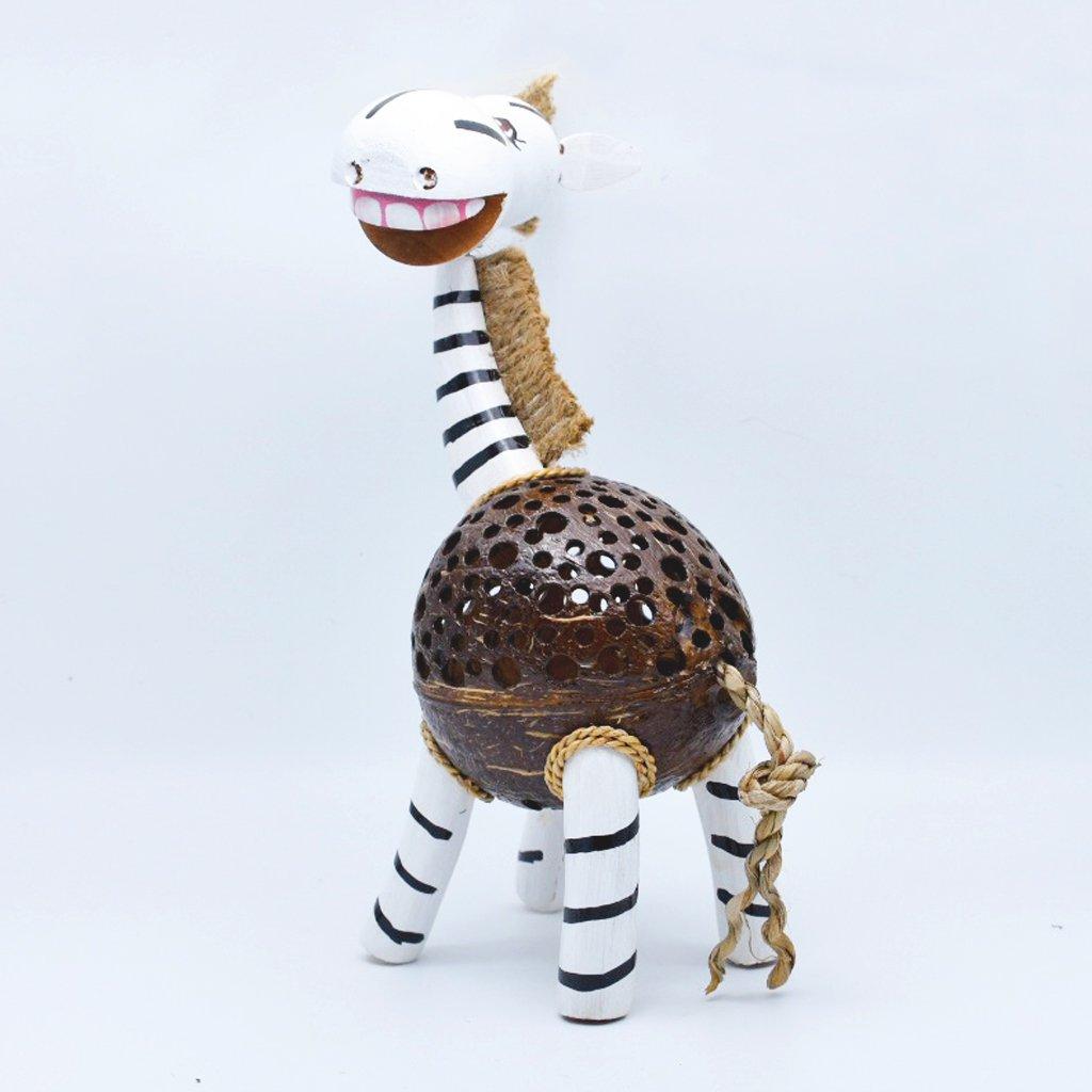 Coconut Shell Lamp – Zebra Lamp night Wooden Crafts Handmade decorative