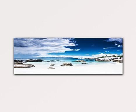 Mare E Spiaggia 120x40cm Quadri Moderni Su Tela Pronti Da Appendere