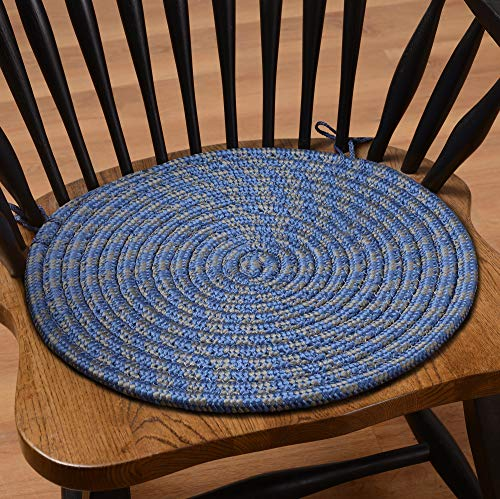 Madison Home 6300-PD2-WB Set of Two Braided Chair Pads, 14