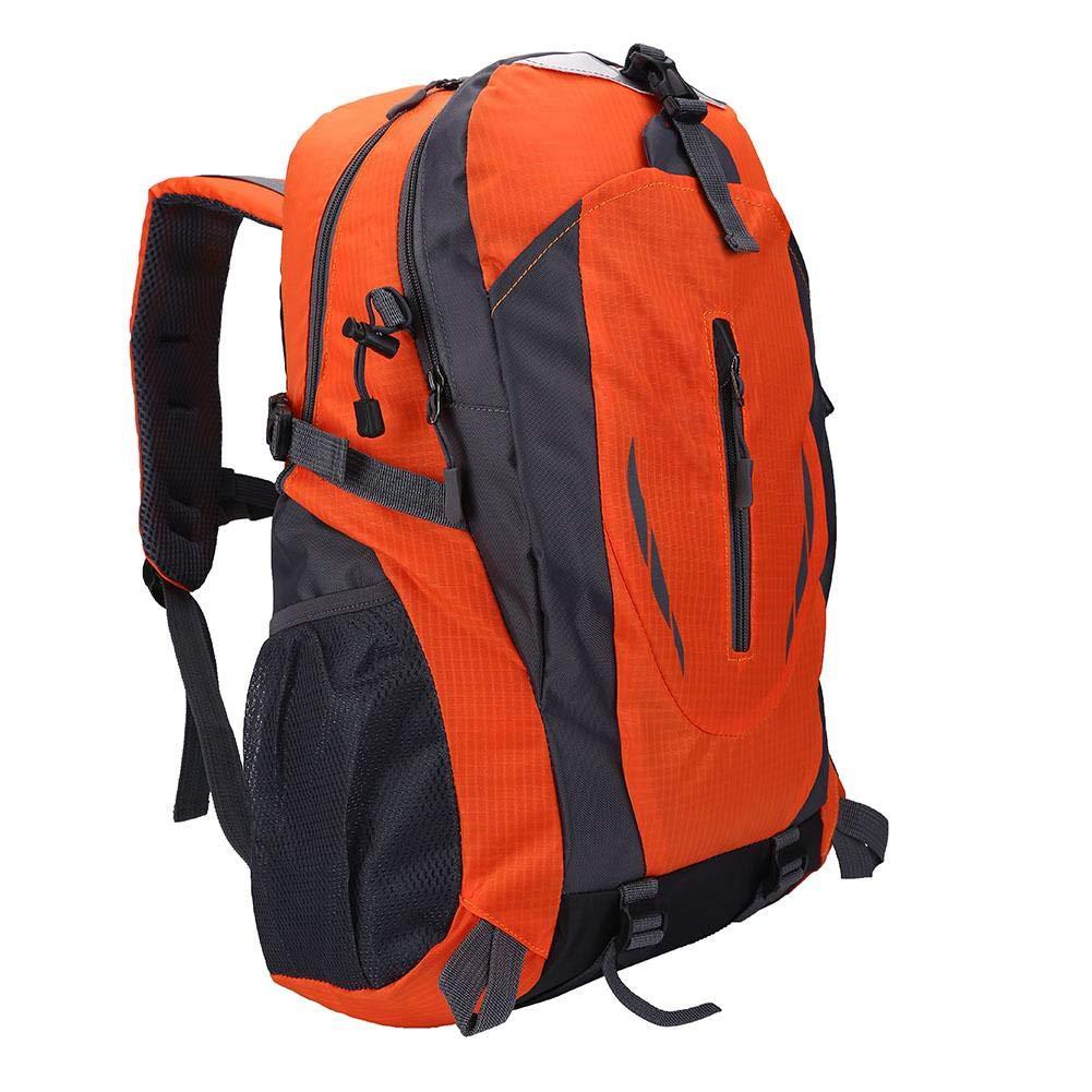 Zerone 旅行ハイキングバックパック 6色 40L 防水バックパック ショルダーバッグ アウトドアスポーツ 登山 キャンプ ハイキング用  オレンジ B07LFFHKHN
