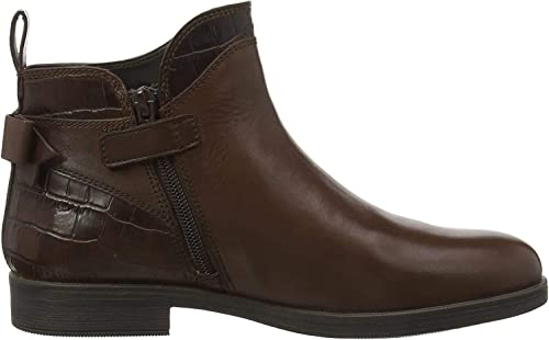 Geox Kids Agata 25 Leather Zip Ankle Boot