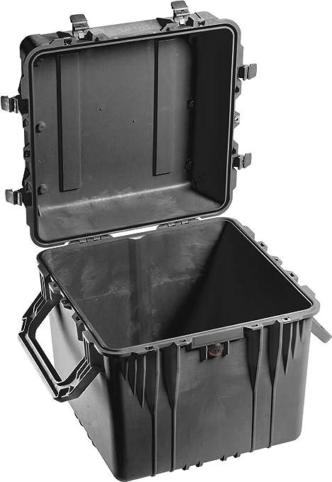 PELI 0350 Caja Profunda Cuadrada con Asas Extra Grandes, IP67 estanca e Impermeable al Polvo, 131L de Capacidad, Fabricada en EE.UU, sin Espuma, Color Negro: Amazon.es: Electrónica