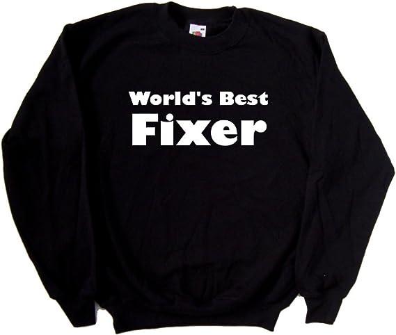World S Best Fixer Black Sweatshirt At Amazon Men S Clothing Store