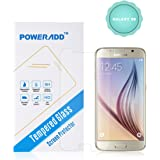 Galaxy S6 Screen Protector, Poweradd Premium 0.33mm, Bubble Free, 9H Hardness Tempered Glass Screen Protector for Samsung Galaxy S6 (NOT S6 Edge) - Retail Packaging