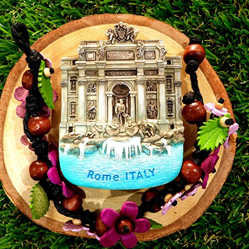 3D Refrigerator magnet Fontaine de vari Rome Italy Gift & - Eyeglasses Vari