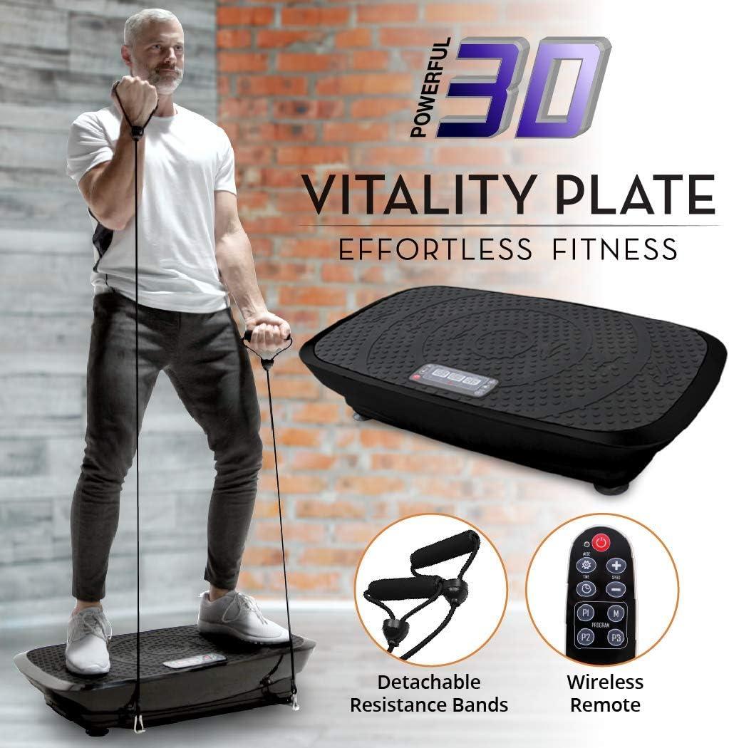Daiwa Felicity Fitness Vibration Platform Workout Machine Remote Control Balance Straps Included Vitality Plate