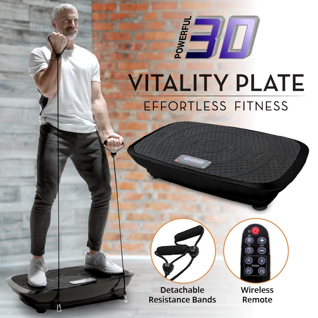 Daiwa Felicity Fitness Vibration Platform Workout Machine Remote Control & Balance Straps Included Vitality Plate