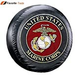 Favorite-trade Marine Corps Marines USMC Vinyl Spare Tire Cover (32'')