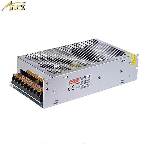 Amazon.com: Anet 12V 20A 240W DC Universal Regulado Fuente ...
