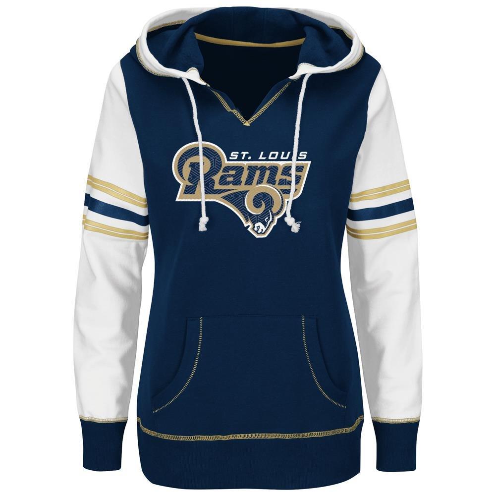 セントルイスラムズWomen 's Majestic NFL「タッチダウン」プルオーバーフード付きスウェットシャツ Large  B00X5ZB6VY