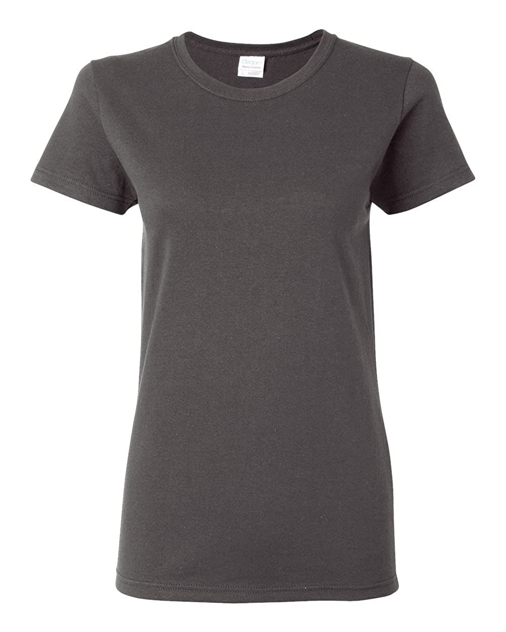 Charcoal Gildan Womens 5.3 oz. Heavy Cotton Missy Fit TShirt G500L (Pack of 12)