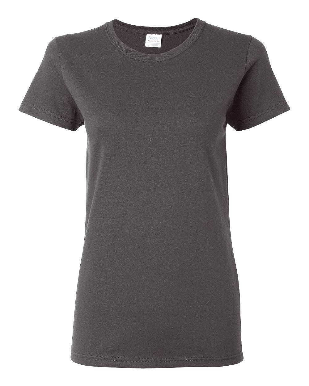 Charcoal Gildan Womens 5.3 oz. Heavy Cotton Missy Fit TShirt G500L (Pack of 12)