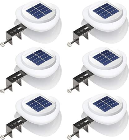 side facing dbf outdoor solar gutter lights