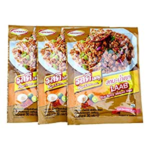 Ajinomoto RosDee Menu Laab Namtok Thai Isaan Seasoning Mix Pack of 3
