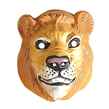 plastic lion masks animals masks eyemasks disguises for masquerade fancy dress costume accessory - Masque Lion