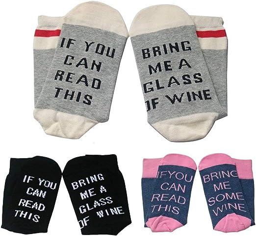 Xmas Unisex*If You Can Read This Bring Me a Beer Sock*Women/'s Men/'s Wine Sock DE