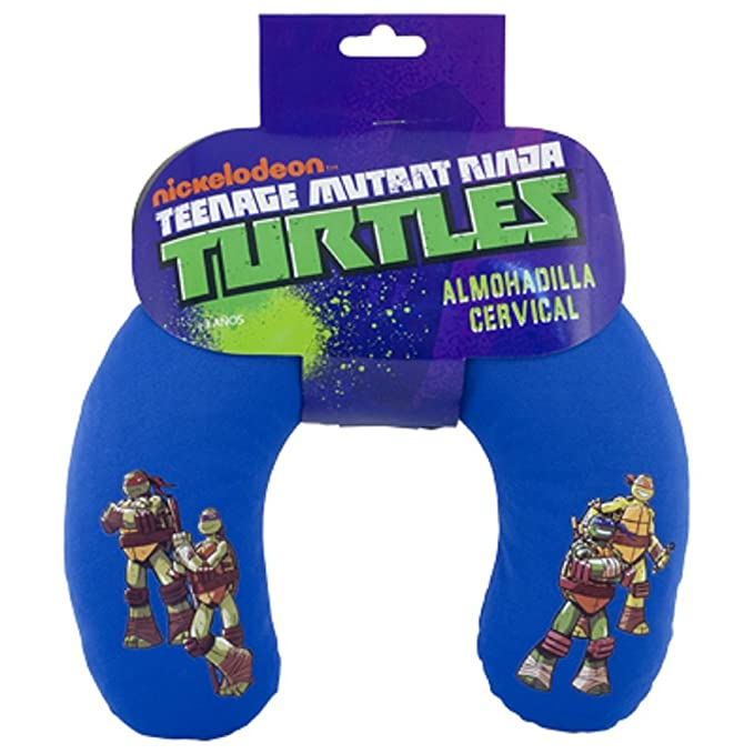 ABC PARTS Tortugas Ninja TUR2010 Almohadilla Cervical Infantil, Azul