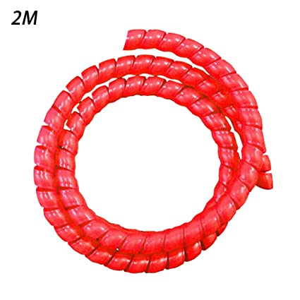 2M Wire Loom Flexible Spiral Wrap Sleeving Band Tube Cable Management Sleeve Cord Protector 8MM(Red): Amazon.in: Home & Kitchen