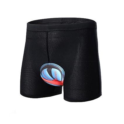 LiGG Ciclismo Pantalones Cortos Hombres y Mujeres Ropa Interior de Bicicleta 3D Gel de s/ílice Acolchado Ciclismo Calzoncillos Transpirable El/ástica Ligera Secado R/ápido