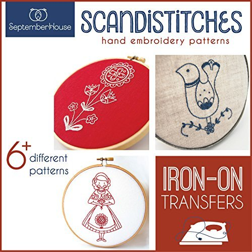 Scandistitches Hand Embroidery Patterns Iron On Transfers
