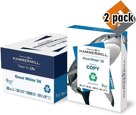 Amazon.com: Hammermill Paper, papel de impresora reciclado ...