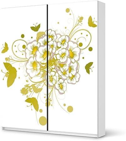 Protector de pantalla para IKEA PAX armario de 236 cm de altura - puerta corredera/con diseño de pegatinas con diseño de flores de pájaros 3/de la decoración element: Amazon.es: Hogar