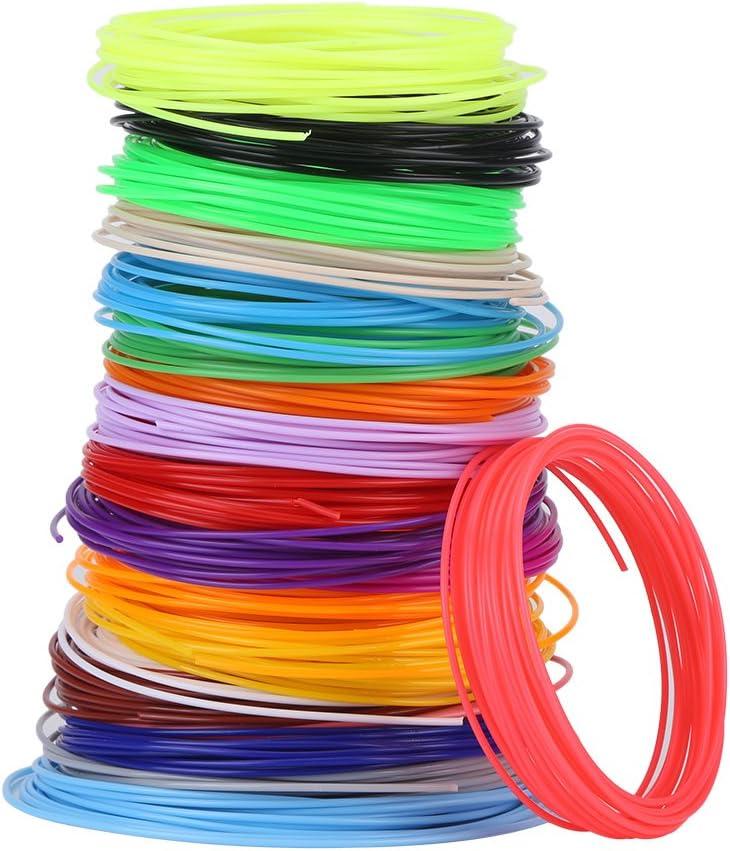 3D Pen Filament Refills Different Colors Filament Refills for Low Temperature 3D Pen, PCL Filament Refills 16.4 Feet for Each Color, 20 3D Printing Pen Filament Refills 1.75mm