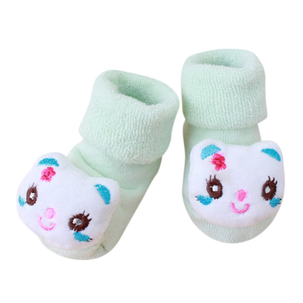 ❤️ Mealeaf ❤️ Cartoon Newborn Kids Baby Girls Boys Anti-Slip Warm Socks Slipper Shoes Boots