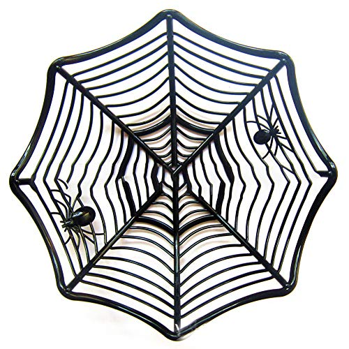 (Ebeauty Spider Web Fruit Plate, Creative Candy Biscuit Fruits Candy Basket Bowl for Halloween Party)