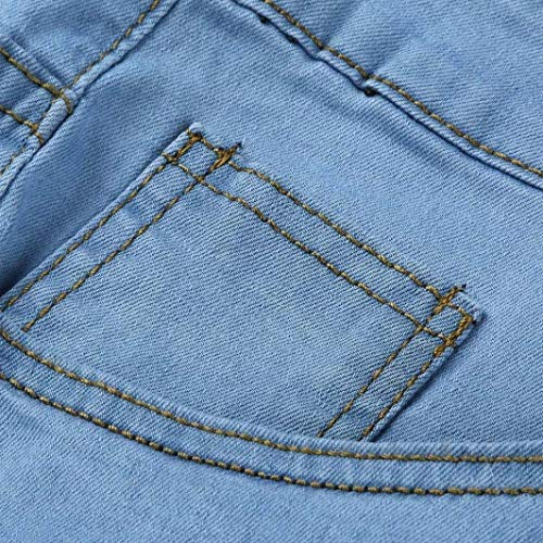 Closure Uomo Abbigliamento Estate Workout Ssig Distressed Biker Hrenjeans Pants Frayed Pantaloni Slim Adelina Skinny Jeans Long Fashion Blau fqSq1