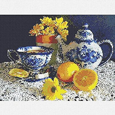 Diamond Painting Kits for Adults, Kids. Home Decoration, Room Office Lemon Tea 15.7x11.8in 1 Pack by May Bob: Arts, Crafts & Sewing