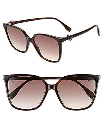 b3dfda912b00 Amazon.com  Fendi FF 0318 S 086HA Sunglasses Dark Havana Frame Brown  Gradient Lenses 57mm  Clothing