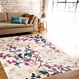 Cheap Rugshop Contemporary Floral Area Rug, 5'3″ x 7'3″, Cream