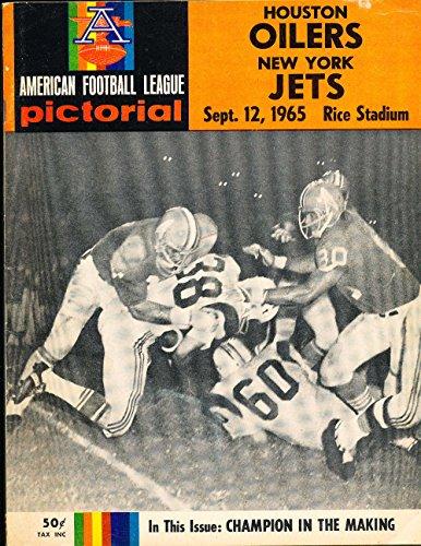 1965 9/12 Houston Oilers vs New York Jets football program ex bxafl (Football Programs compare prices)
