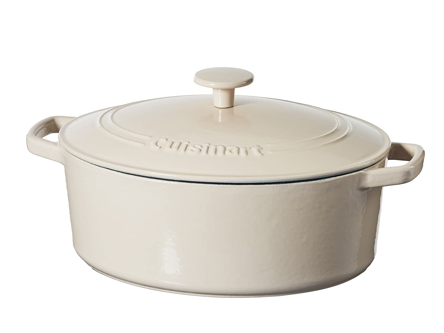 Cuisinart 5.5 Qt. Casserole Cast Iron, Cream